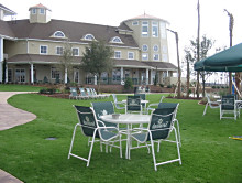 Commercial Resort and Hotel with FieldTurf Artificial Grass