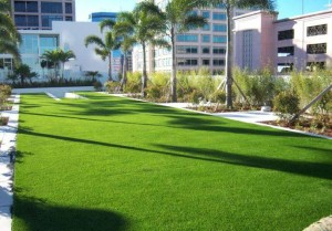 FieldTurf Artificial Grass for Commercial Common Area Event Lawn