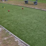 Bocce Ball Court with FieldTurf artificial grass. Artificial Turf for Lawn Bowling and Bocce Ball Courts