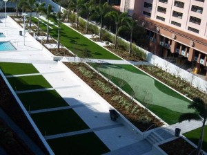 Commercial FieldTurf Artificial Grass with Golf Putting Green. Our synthetic turf is ideal due to low maintenance and it's durability.