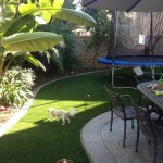 FieldTurf Artificial Grass for Kids and Pets Play Area. Lawn stays green and clean. Kids and pets go out clean and come in clean. No debris tracking inside.