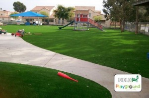 USMC Camp Pendleton with FieldTurf synthetic playground grass. Beautiful, Safe and virtually Maintenance free.