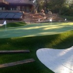 FieldTurf Residential Backyard Putting Green with Tru-Roll 5 holes