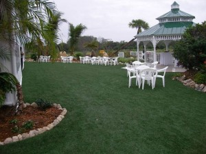 FieldTurf Synthetic Grass for Commercial Event Lawn Area