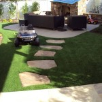 FieldTurf Synthetic Lawn for BBQ and Kids Play Area. Looks real, feels real, durable with almost no maintenance. . . The Perfect Grass... Just Relax.
