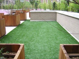 Green Roof FieldTurf Synthetic Grass Surface Rooftop. Functional, Durable, and Visually Appealing.