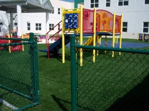 Hollywood Hills Elementary Playground with FieldTurf Surfacing for safe, clean play.