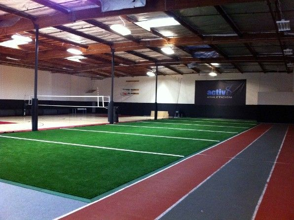 Indoor Sports Facility With FieldTurf Artificial Grass Is