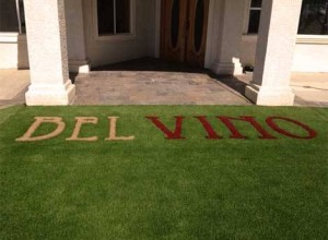 Lawn Monograms, Insignias, Logos, Family Crests with FieldTurf Grass