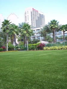 Orlando World Center Marriott Resort – Event Lawn area with FieldTurf artificial grass