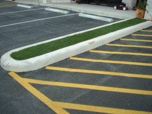 Parking Lot FieldTurf Grass Median Strip Island adds beauty and curb appeal.