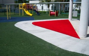 Great example of a playground use for our FieldTurf synthetic turf