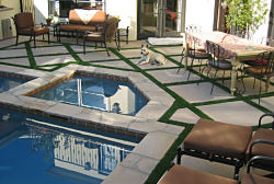 Artificial Grass in Pool and Patio Areas