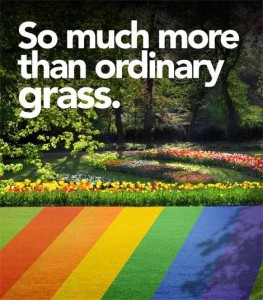 Artificial grass color choices from FieldTurf