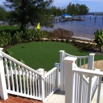 Residential Golf Putting Green near Ocean that's beautiful and fun to play for the whole family.