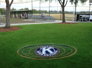 A nice addition for Safety Harbor using our FieldTurf grass for this area and the logo.