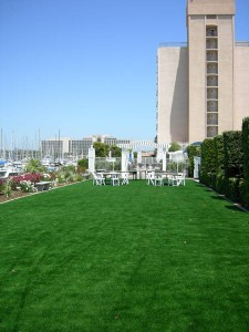 Sheraton Harbor Island Resort – Event Lawn using FieldTurf Artificial Lawn