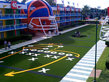 You're only limited by your imagination for our EasyTurf by FieldTurf colorful fake grass.