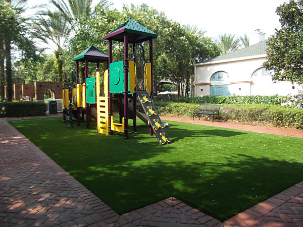 Walt Disney World Port Orleans Resort Hotel Playground covered in FieldTurf artificial grass by Alternascapes. We cover Florida.