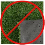 Whether drilled, punched or melted, holes in artificial grass is a problem in the making right from the beginning.