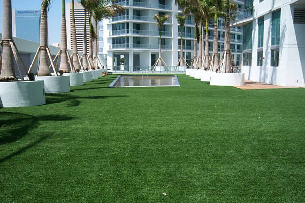 Commercial Rooftop with EasyTurf Artificial Grass