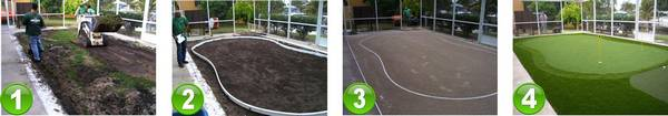 EasyTurf Golf Putting Green Installation for Residential Home in Miami, FL