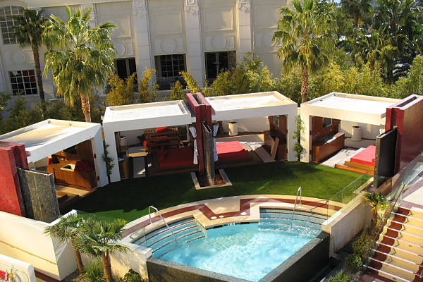 Mandalay Bay Resort Hotel Pool Deck with synthetic grass