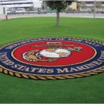 US Marines insignia made of synthetic turf