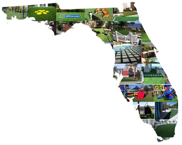 We cover the State of Florida with EasyTurf synthetic lawns for commercial and residential using our own crews.