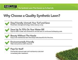 Choose Artificial Turf Grass for your Florida Landscaping.