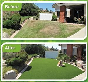 EasyTurf artificial grass residential Florida lawn