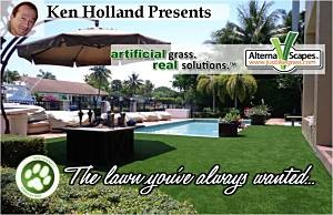 Ken Holland Presents Real Looking and Feeling, Clean and Green, Artificial Grass Lawn you Want.